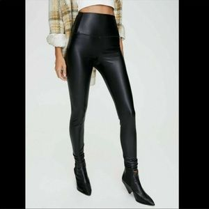 NWT 7 For All Mankind Moto Faux Leather Leggings M